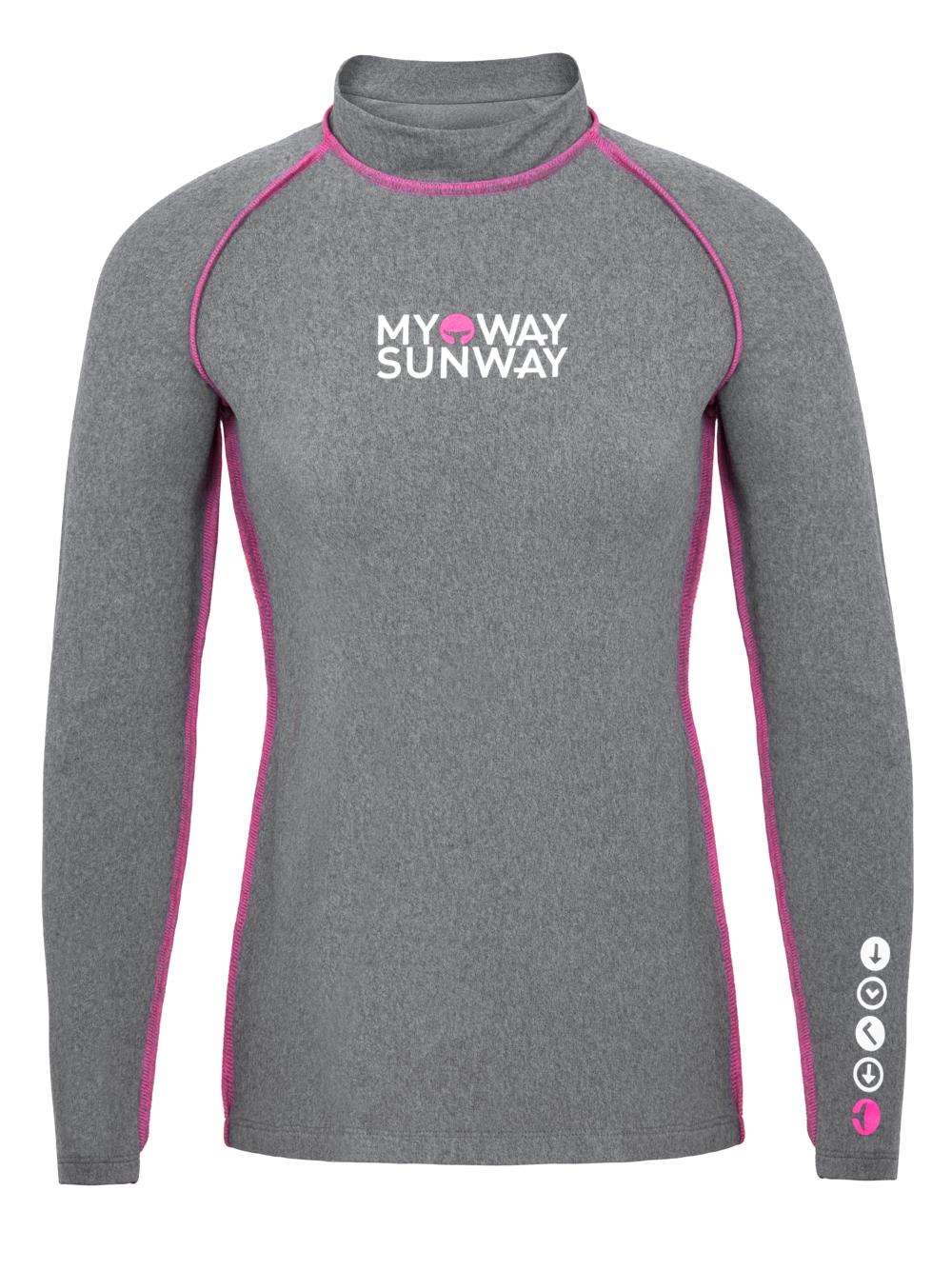Thermal Lycra Fleece Shirt - Gray Pink / Black