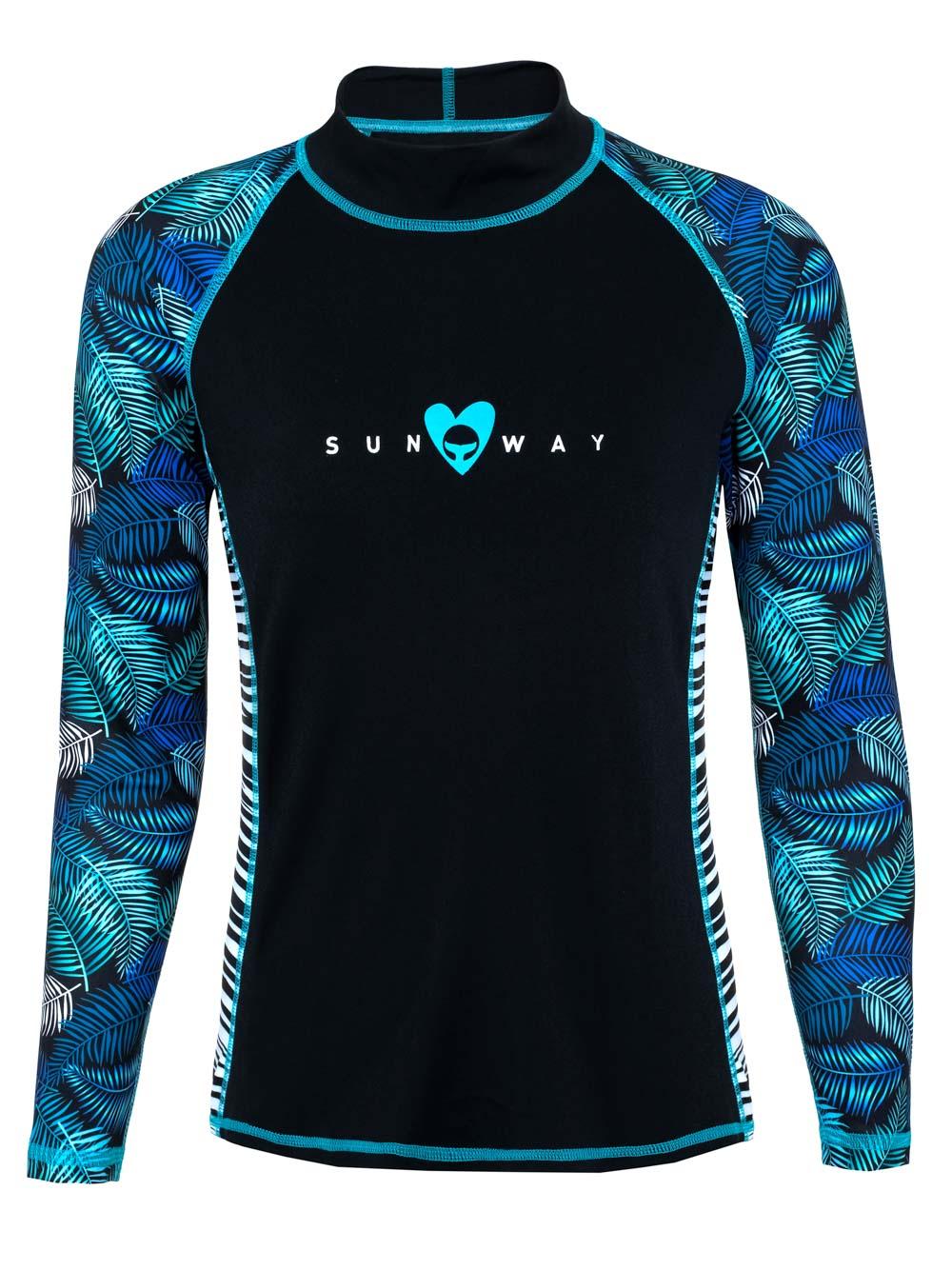 Long sleeves Rash Guard shirt for women 031 SunWay